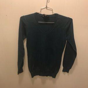 Wool blue green sweater